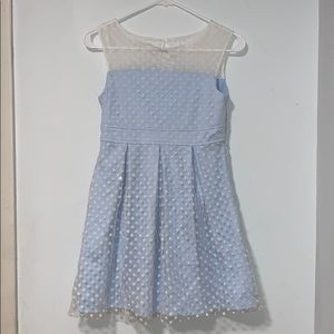 EUC Pippa & Julie Light Blue & white Girls Dress